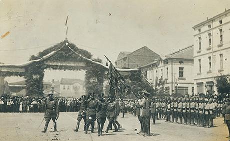 Цар Борис III на площада в Хасково, 1937 г.